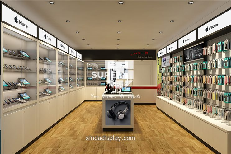 Mobile Phone Shop Design Phone Accessory Display 002 Retail Shop