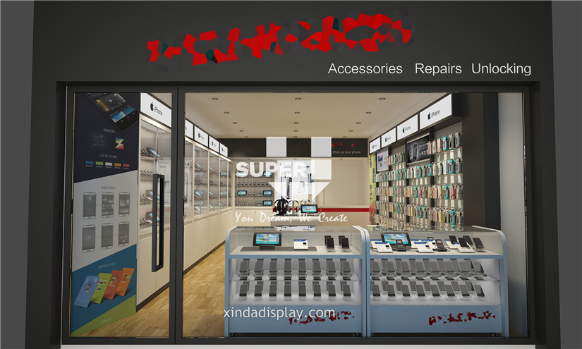 Mobile Phone Shop Design Phone Accessory Display - Retail ...