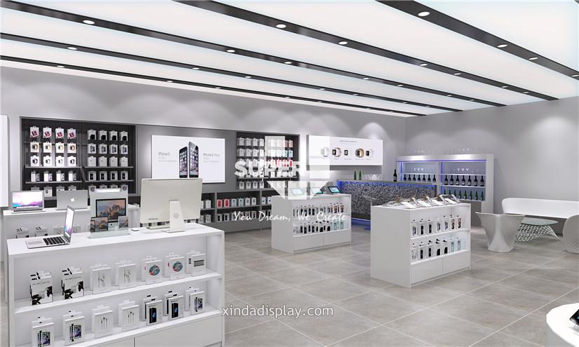 Apple store electronics mobile phone shop interior design for Mobel onlineshop design