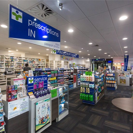 Health And Personal Care Medical Store Interior Design #013