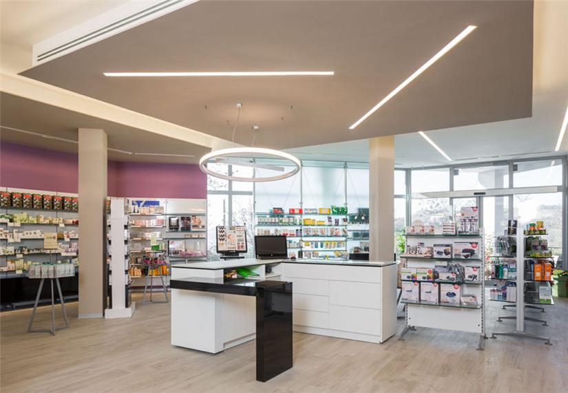 Modern Small Pharmacy Interior Design Retail Shop