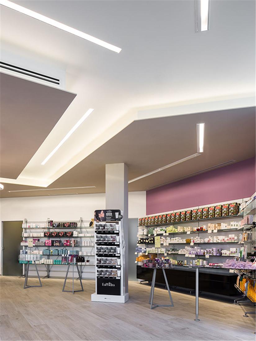 Modern small pharmacy interior design why custom design