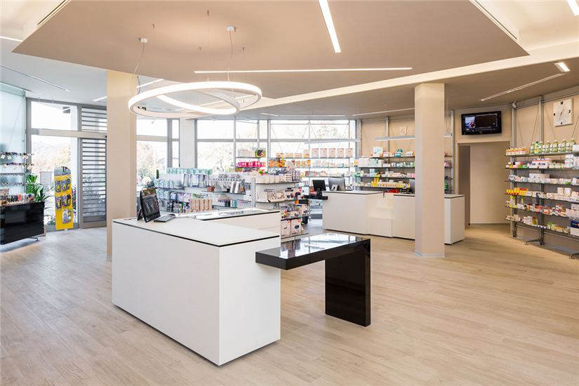 Modern Small Pharmacy Interior Design Retail Shop