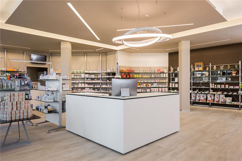 Modern Small Pharmacy Interior Design Retail Shop Interior