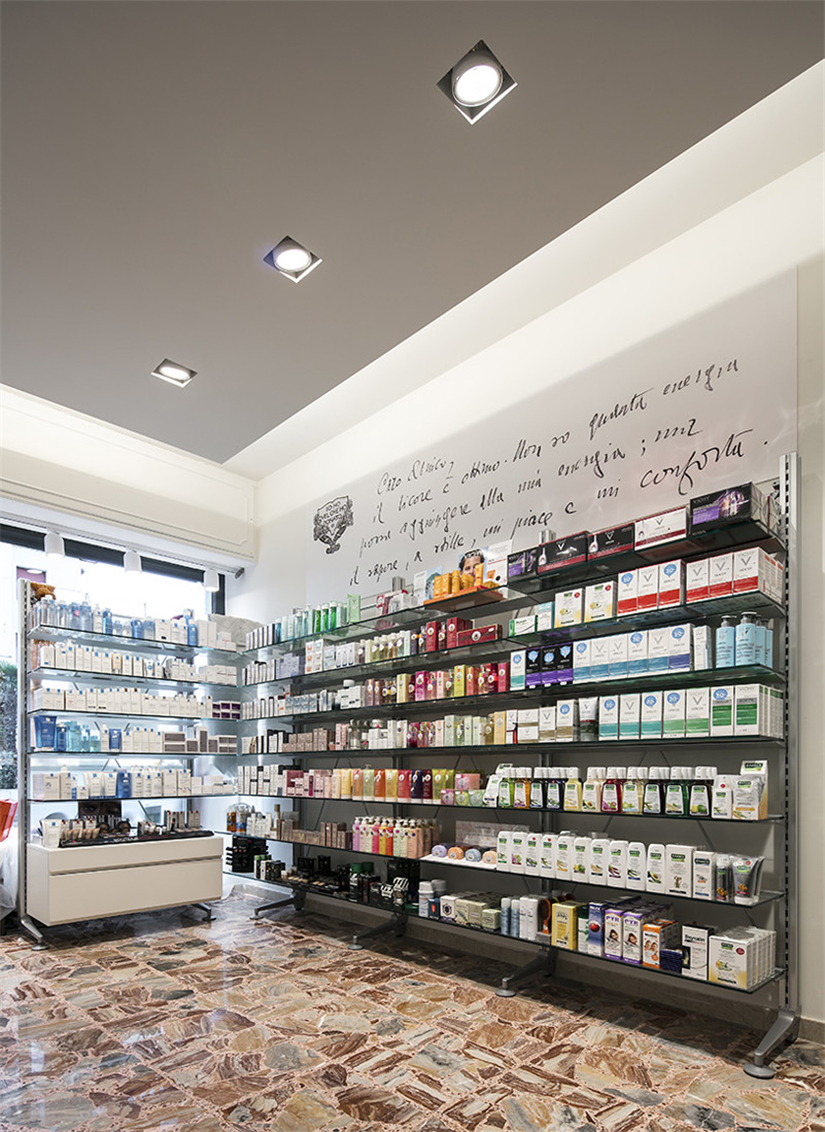 Vintage Small Store Interior Design For Medicine Retail