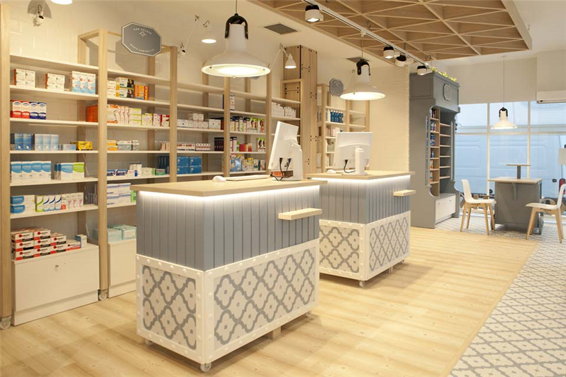 Wood and stoneware Medical Shop Decoration Ideas - Retail ...