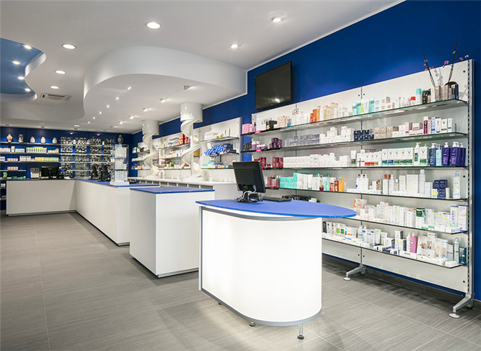 Sea Element Pharmacy Design Interior Store Decoration