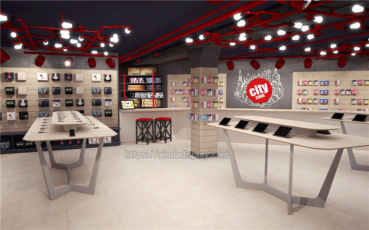 Mobile Cell Phone Showroom Design - Retail Shop Interior ...