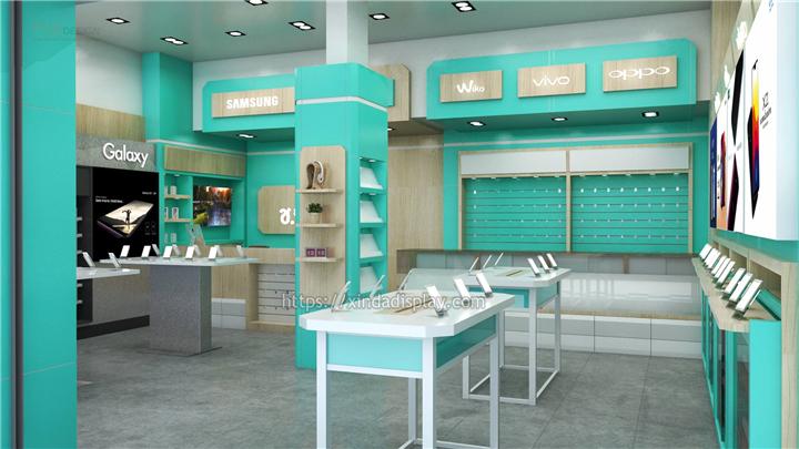 Simple Mobile Phone Shop Interior Design - Retail Shop ...