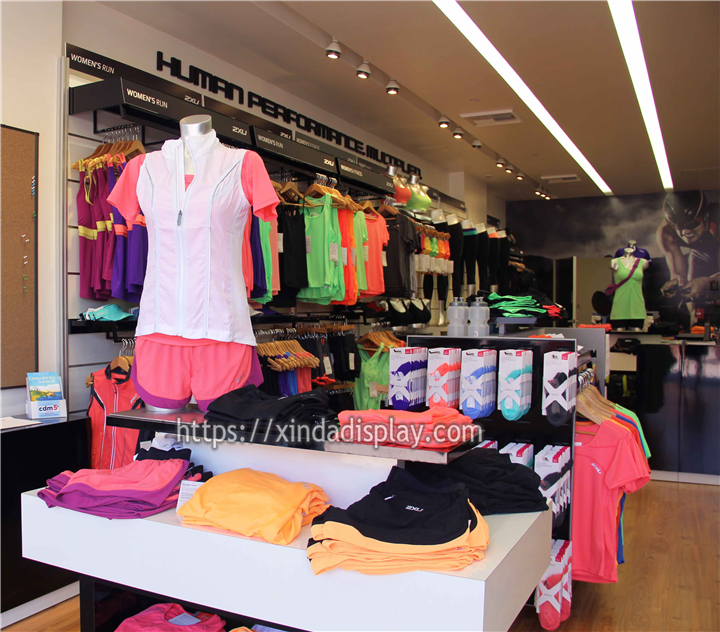 Custom Activewear Shop Interior Design Display Gym Sports Shop Decoration Ideas Retail Shop Interior Design Store Layout Design